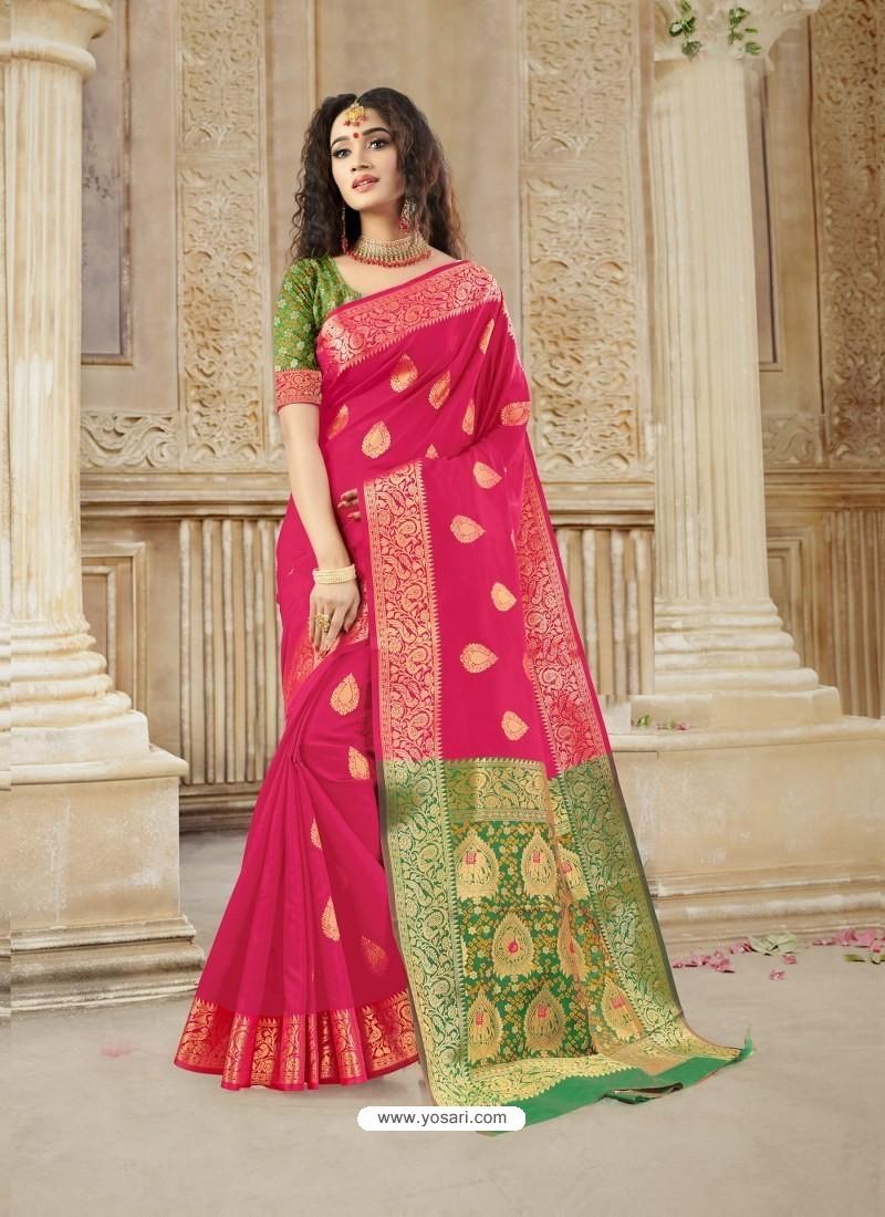 Rani Latest Designer Party Wear Soft Silk Sari