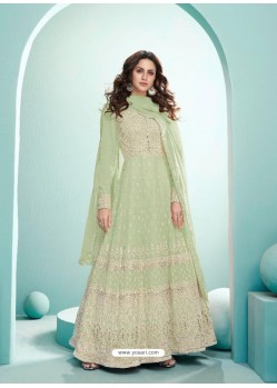 Sea Green Real Georgette Designer Party Wear Anarkali Suit