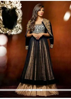 Priyanka Chopra Black Net Anarkali Suit
