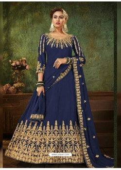 Royal Blue Pure Georgette Designer Party Wear Anarkali Suit