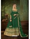 Dark Green Pure Georgette Designer Party Wear Anarkali Suit