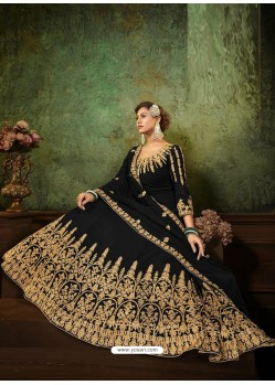 Black Pure Georgette Designer Party Wear Anarkali Suit