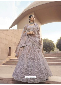 Dusty Pink Latest Designer Wedding Wear Lehenga Choli