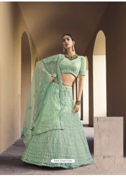 Sea Green Latest Designer Wedding Wear Lehenga Choli