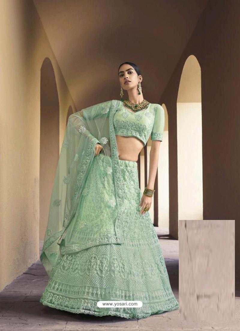 Sea Green Latest Designer Wedding Wear Lehenga Choli