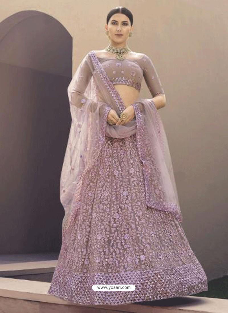 Mauve Latest Designer Wedding Wear Lehenga Choli