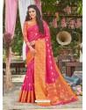 Rani Latest Designer Party Wear Crystal Silk Sari