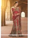 Beauteous Net Red A Line Lehenga Choli