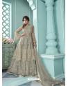 Grey Butterfly Net Designer Party Wear Wedding Lehenga Suit