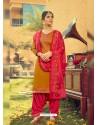 Mustard Designer Party Wear Jam Silk Cotton Punjabi Patiala Suit