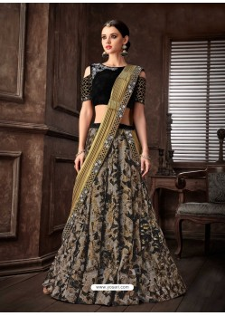 Multi Colour Scintillating Designer Fancy Party Wear Lehenga Style Sari