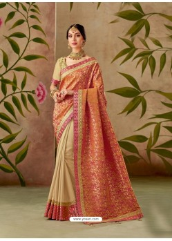 Multi Colour Latest Designer Traditional Party Wear Silk Sari