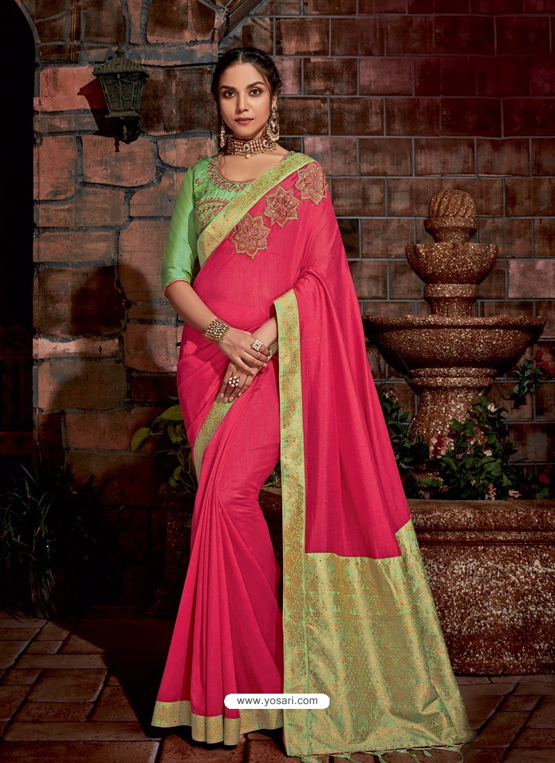 Rani Latest Designer Traditional Party Wear Silk Sari