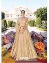 Cream Heavy Faux Georgette Designer Party Wear Anarkali Suit