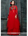 Arresting Net Anarkali Salwar Suit