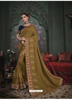 Mehendi Latest Designer Traditional Party Wear Silk Sari