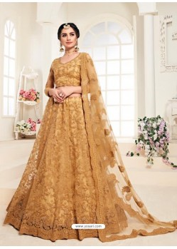 Mustard Heavy Embroidered Designer Wedding Lehenga Choli