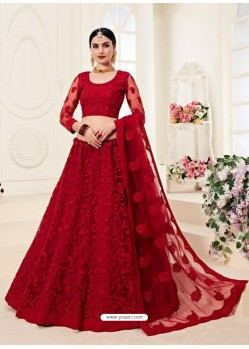 Maroon Heavy Embroidered Designer Wedding Lehenga Choli