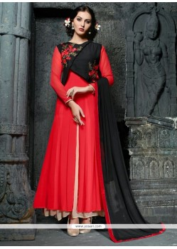 Suave Resham Work Georgette Anarkali Suit