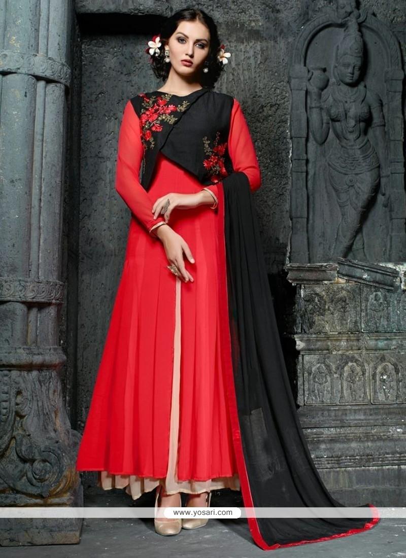 Suave Resham Work Georgette Anarkali Suit