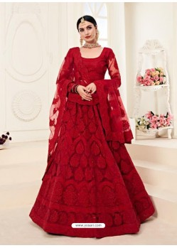 Maroon Heavy Embroidered Designer Wedding Lehenga Choli