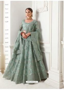 Grey Heavy Embroidered Designer Wedding Lehenga Choli