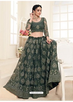 Mehendi Heavy Embroidered Designer Wedding Lehenga Choli