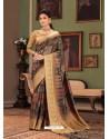 Multi Colour Designer Casual Printed Silk Sari