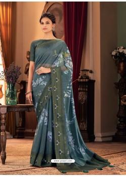 Pigeon Designer Casual Printed Silk Sari