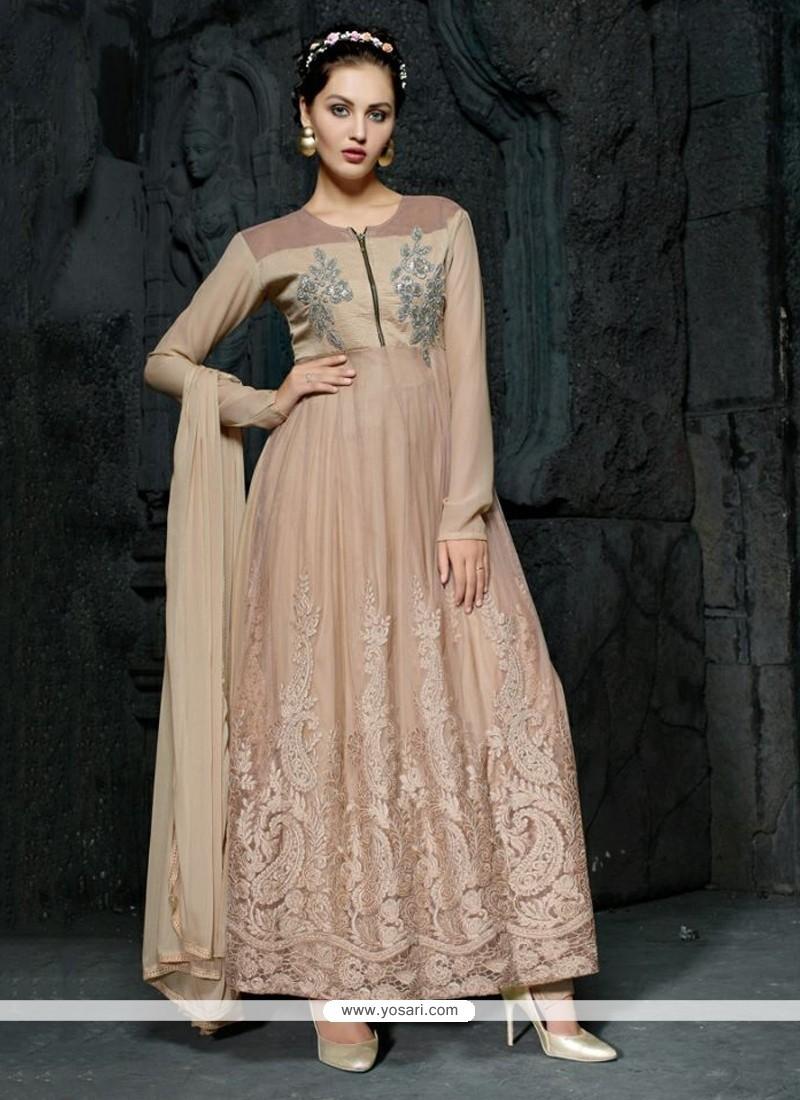 Stunning Georgette Embroidered Work Anarkali Salwar Suit
