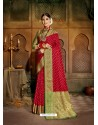 Red Latest Designer Traditional Party Wear Soft Silk Sari