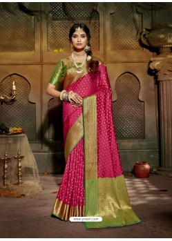 Rani Latest Designer Traditional Party Wear Soft Silk Sari