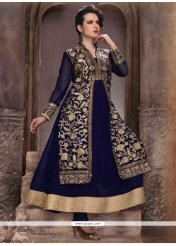 Floral Georgette Anarkali Salwar Suit
