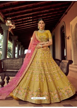 Corn Heavy Embroidered Designer Wedding Lehenga Choli