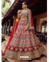 Multi Colour Heavy Embroidered Designer Wedding Lehenga Choli