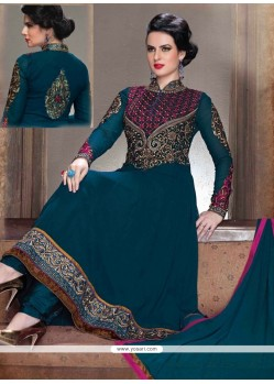Ethnic Georgette Resham Work Anarkali Salwar Suit