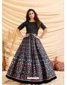 Black Designer Party Wear Tafetta Silk Western Gown