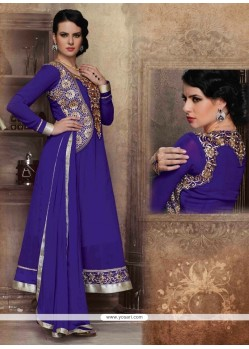 Classy Georgette Embroidered Work Anarkali Salwar Kameez