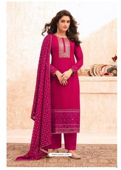 Rani Designer Real GeorgetteᅠParty Wear Straight Suit