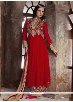 Deserving Red Designer Pakistani Suit