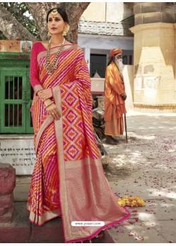 Multi Colour Astonishing Designer Wedding Wear Silk Sari