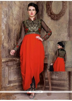 Remarkable Red Designer Salwar Suit