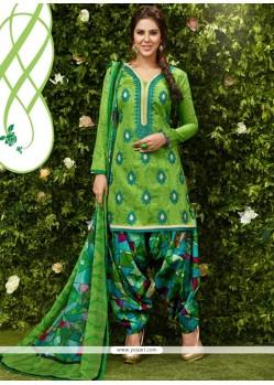 Nice Green Designer Patila Salwar Suit