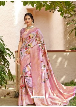 Pink Designer Party Wear Art Silk Sari