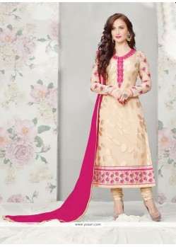Asthetic Brown Brasso Georgette Churidar Suit