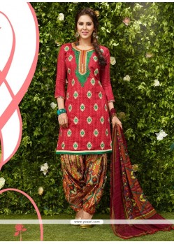 Astonishing Hot Pink Designer Patila Salwar Suit