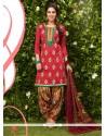 Astonishing Hot Pink Designer Patila Salwar Suit