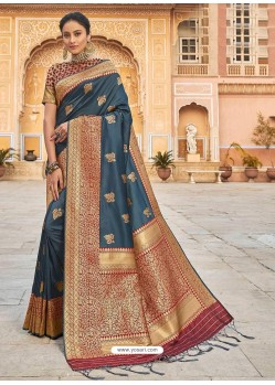 Pigeon Stylish Designer Wedding Wear Silk Sari
