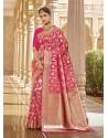 Rani Stylish Designer Wedding Wear Silk Sari