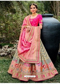 Multi Colour Heavy Embroidered Designer Wedding Lehenga Choli